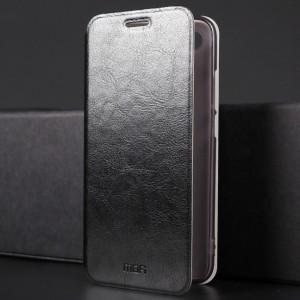 Чехол горизонтальная книжка подставка на силиконовой основе для Huawei Honor 10 Черный