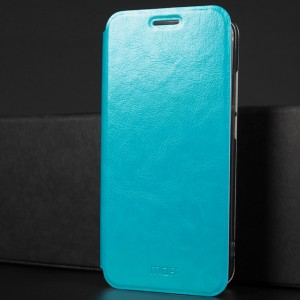 Чехол горизонтальная книжка подставка на силиконовой основе для Huawei Honor 10 Голубой