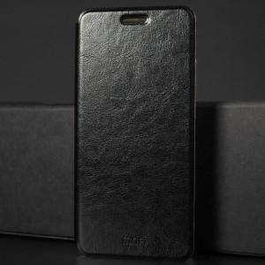 Чехол горизонтальная книжка подставка на силиконовой основе для Xiaomi RedMi Note 5/5 Pro Черный