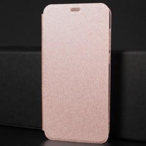 Чехол горизонтальная книжка подставка текстура Золото на силиконовой основе для Huawei Honor 9 Lite Розовый