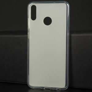 Силиконовый матовый полупрозрачный чехол для Huawei Honor 8X Белый