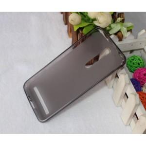 Силиконовый матовый полупрозрачный чехол для Asus Zenfone 2 Черный