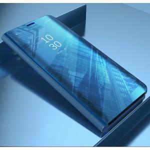 Пластиковый непрозрачный матовый чехол с полупрозрачной крышкой с зеркальным покрытием для Samsung Galaxy A5 (2017) Синий