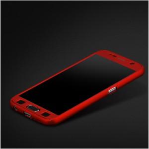 Двухкомпонентный сборный пластиковый матовый чехол для Samsung Galaxy S7 Красный