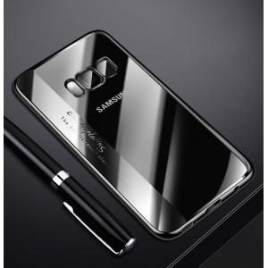 Силиконовый глянцевый полупрозрачный чехол для Samsung Galaxy S8 Черный