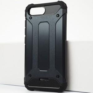 Противоударный двухкомпонентный силиконовый матовый непрозрачный чехол с поликарбонатными вставками экстрим защиты для Xiaomi RedMi 6A Синий