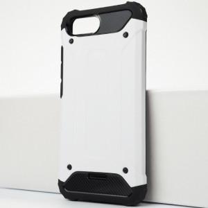 Противоударный двухкомпонентный силиконовый матовый непрозрачный чехол с поликарбонатными вставками экстрим защиты для Xiaomi RedMi 6A Белый