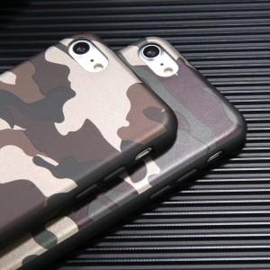 Силиконовый матовый непрозрачный чехол с текстурным покрытием Камуфляж для Iphone 6/6s