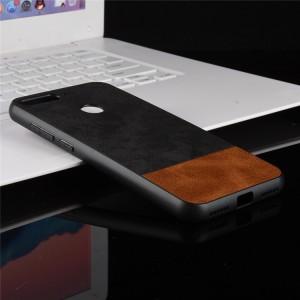 Силиконовый матовый непрозрачный чехол с текстурным покрытием Ткань для Huawei Honor 7A Pro/7C/Y6 Prime (2018) Черный
