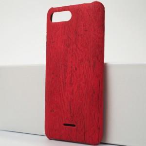 Пластиковый непрозрачный матовый чехол с текстурным покрытием Дерево для Xiaomi RedMi 6A Красный