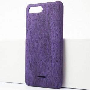 Пластиковый непрозрачный матовый чехол с текстурным покрытием Дерево для Xiaomi RedMi 6A Фиолетовый