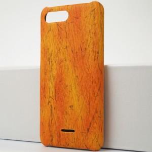 Пластиковый непрозрачный матовый чехол с текстурным покрытием Дерево для Xiaomi RedMi 6A Оранжевый