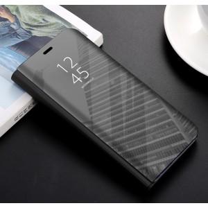 Пластиковый непрозрачный матовый чехол с полупрозрачной крышкой с зеркальным покрытием для Huawei Honor 9 Lite Черный