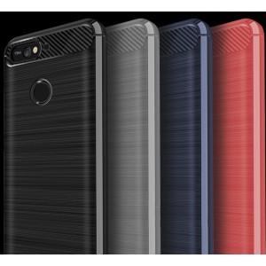 Силиконовый матовый непрозрачный чехол с текстурным покрытием Металлик для Huawei Honor 7A Pro/7C/Y6 Prime (2018)