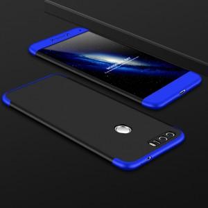 Двухкомпонентный сборный двухцветный пластиковый матовый чехол для Huawei Honor 8 Синий