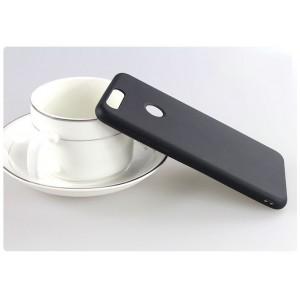 Силиконовый матовый непрозрачный чехол для Huawei Honor 8