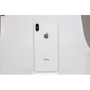 Двухкомпонентный силиконовый матовый полупрозрачный чехол горизонтальная книжка с акриловой полноразмерной транспарентной смарт крышкой с усиленными углами для Iphone Xs Max Белый