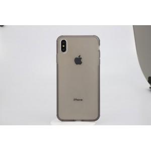 Двухкомпонентный силиконовый матовый полупрозрачный чехол горизонтальная книжка с акриловой полноразмерной транспарентной смарт крышкой с усиленными углами для Iphone Xs Max Черный