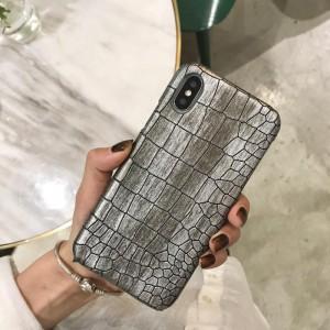 Чехол накладка текстурная отделка Кожа Рептилии для Iphone Xs Max Белый