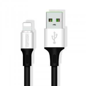 Интерфейсный кабель Lightning 1м с допзащитой от перетирания Черный