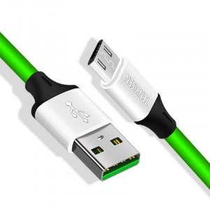Интерфейсный кабель Micro-USB 1м с допзащитой от перетирания Зеленый
