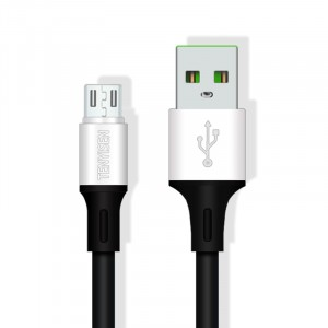 Интерфейсный кабель Micro-USB 1м с допзащитой от перетирания Черный