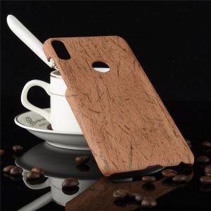 Чехол накладка текстурная отделка Дерево для ASUS ZenFone Max Pro M1 Коричневый