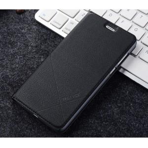 Чехол горизонтальная книжка подставка текстура Линии с отсеком для карт для Huawei Honor 8 Черный