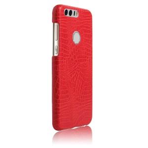 Чехол накладка текстурная отделка Кожа Крокодила для Huawei Honor 8 Красный