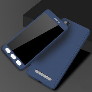 Двухкомпонентный сборный пластиковый матовый чехол для Xiaomi RedMi 4A Синий