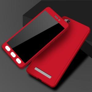 Двухкомпонентный сборный пластиковый матовый чехол для Xiaomi RedMi 4A Красный