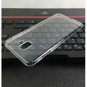 Силиконовый глянцевый транспарентный чехол для Samsung Galaxy J6 Plus