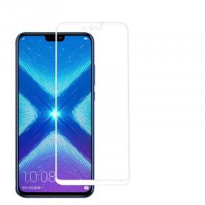 Полноэкранное ультратонкое износоустойчивое сколостойкое олеофобное защитное стекло-пленка для Huawei Honor 8X Белый