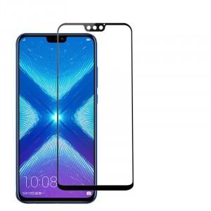 Полноэкранное ультратонкое износоустойчивое сколостойкое олеофобное защитное стекло-пленка для Huawei Honor 8X Черный