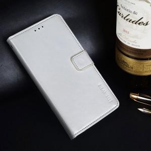 Глянцевый водоотталкивающий чехол портмоне подставка на силиконовой основе с отсеком для карт на магнитной защелке для ASUS ZenFone Max Pro M2 Белый