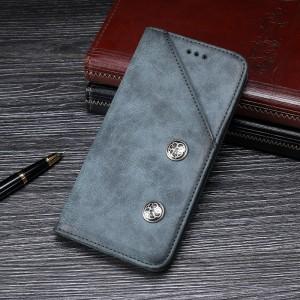 Винтажный чехол горизонтальная книжка подставка на силиконовой основе с отсеком для карт для ASUS ZenFone Max Pro M2 Серый