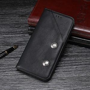 Винтажный чехол горизонтальная книжка подставка на силиконовой основе с отсеком для карт для ASUS ZenFone Max Pro M2 Черный