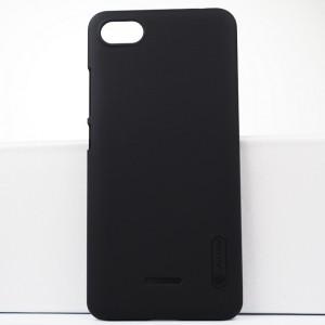 Пластиковый непрозрачный матовый нескользящий премиум чехол с повышенной шероховатостью для Xiaomi RedMi 6A Черный
