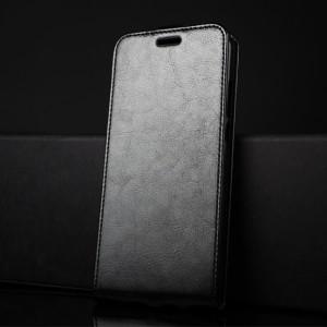 Глянцевый водоотталкивающий чехол вертикальная книжка на силиконовой основе с отсеком для карт на магнитной защелке для Huawei Honor 8X Черный