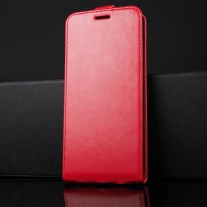 Глянцевый водоотталкивающий чехол вертикальная книжка на силиконовой основе с отсеком для карт на магнитной защелке для Huawei Honor 8X Красный