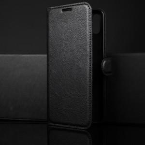 Чехол портмоне подставка на силиконовой основе с отсеком для карт на магнитной защелке для Huawei Honor 8X Черный