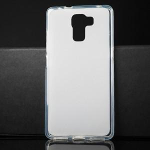 Силиконовый матовый полупрозрачный чехол для Huawei Honor 7 Белый