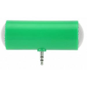 Портативный универсальный внешний мини-динамик 3.5мм 1Вт с батареечным питанием Зеленый