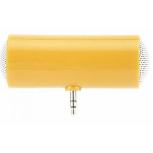 Портативный универсальный внешний мини-динамик 3.5мм 1Вт с батареечным питанием Оранжевый