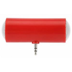 Портативный универсальный внешний мини-динамик 3.5мм 1Вт с батареечным питанием Красный