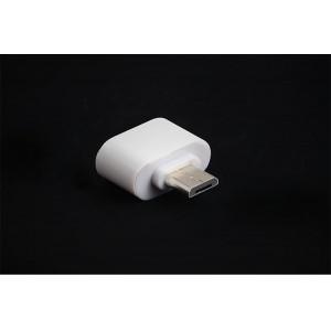 Переходник MicroUSB-USB OTG для подключения внешних USB устройств Белый