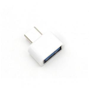 Переходник USB Type-C - USB OTG для подключения внешних USB устройств Белый