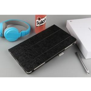 Сегментарный чехол книжка подставка текстура Линии с рамочной защитой экрана для Huawei MediaPad T3 10 Черный