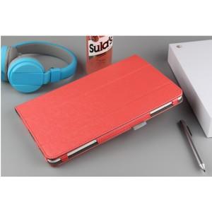 Сегментарный чехол книжка подставка текстура Линии с рамочной защитой экрана для Huawei MediaPad T3 10 Красный