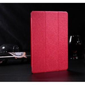 Сегментарный чехол книжка подставка текстура Золото на полупрозрачной поликарбонатной основе для IPad Pro 11  Красный